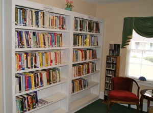 This is a closer look at part of the room with our biographies & non-fiction.