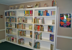 This is our children's non-fiction and fiction section.