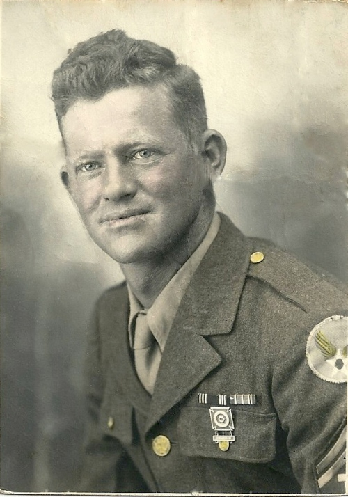 Henry Lester, my wonderful father-in-law, who served in Italy and North Africa in WWII.